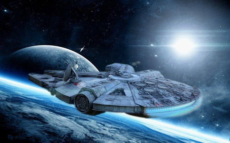 Millennium Falcon nello spazio