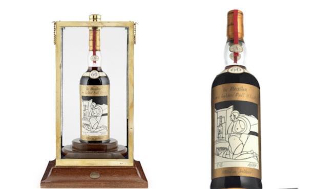 La bottiglia di whisky he Macallan Valerio Adami 1926