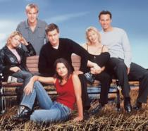 Il cast di Dawson's Creek in una foto promozionale