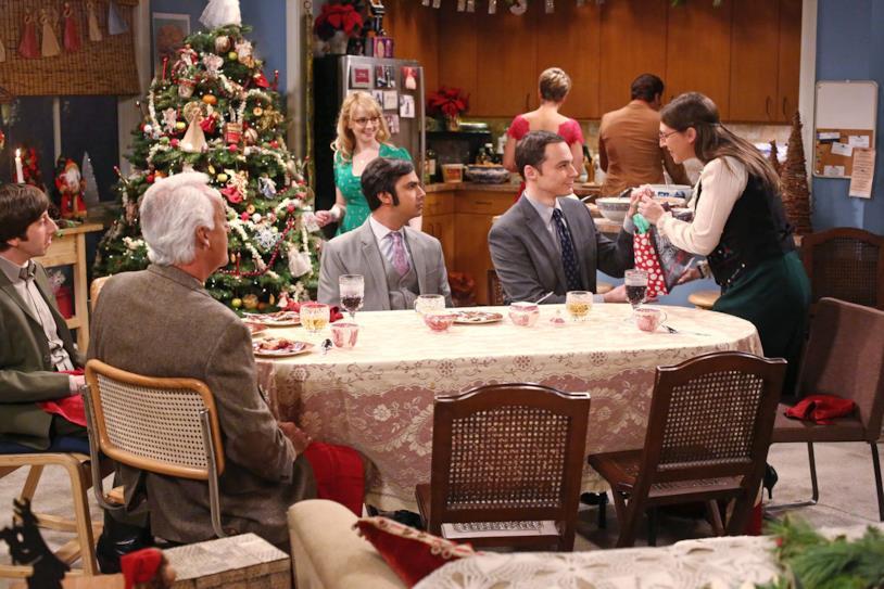 A casa di Raj per festeggiare il Natale