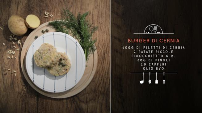 Ricetta burger di cernia