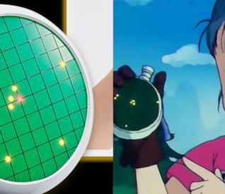 Bulma con il radar per cercare le sfere del drago