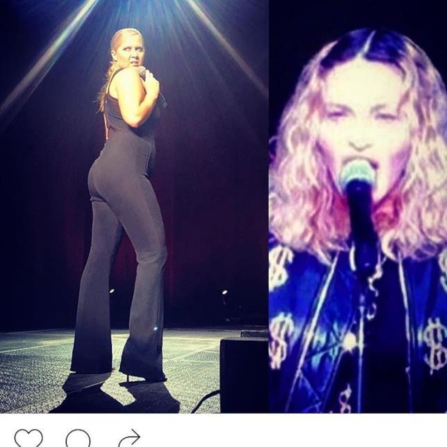 Amy Schumer fa allusioni piazzando un microfono di fronte a Madonna