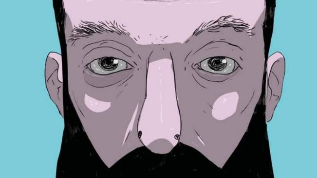 Un primo piano del protagonista del fumetto Macumba