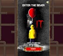 Un istante del videogioco di Pennywise a 8-bit