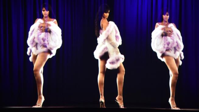 Ologramma di Rihanna