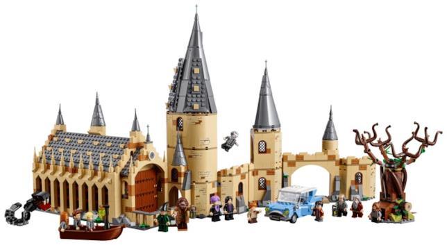 Dettagli sui sue set LEGO uniti: la Sala Grande e il Platano Picchiatore