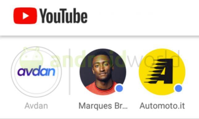 Dettagli sul tab Storie inserito nel Feed Iscrizioni di YouTube