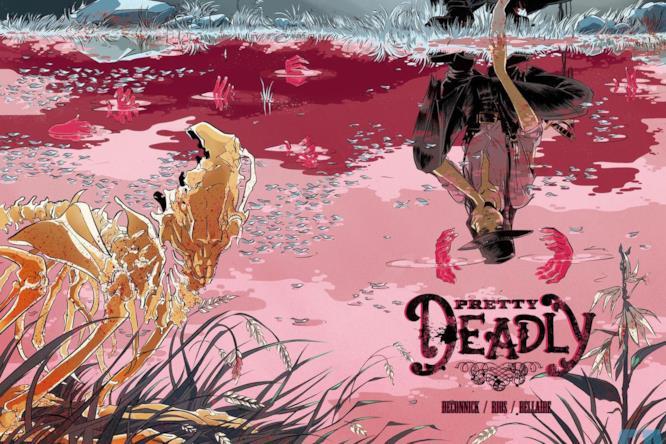 Ginny e un coniglietto morto sulla cover di Pretty Deadly #1