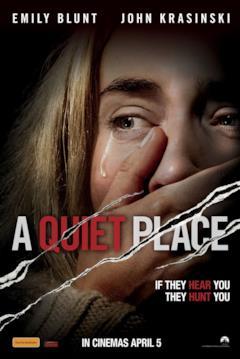 Un primo piano di Emily Blunt nel variant poster di A quiet place