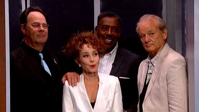 Dan Aykroyd, Annie Potts, Ernie Hudson e Bill Murray