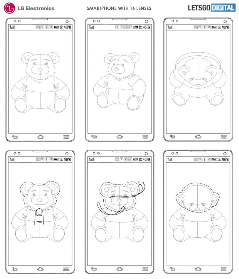 Il brevetto di LG Electronics con i 16 obiettivi per smartphone