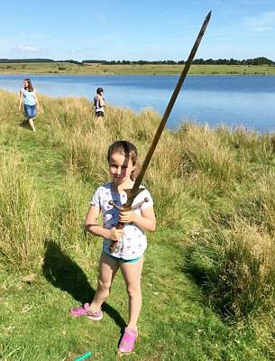 Matilda Jones con la spada