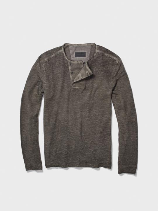 GoT: maglia scollo Henley grigio scuro John Varvatos