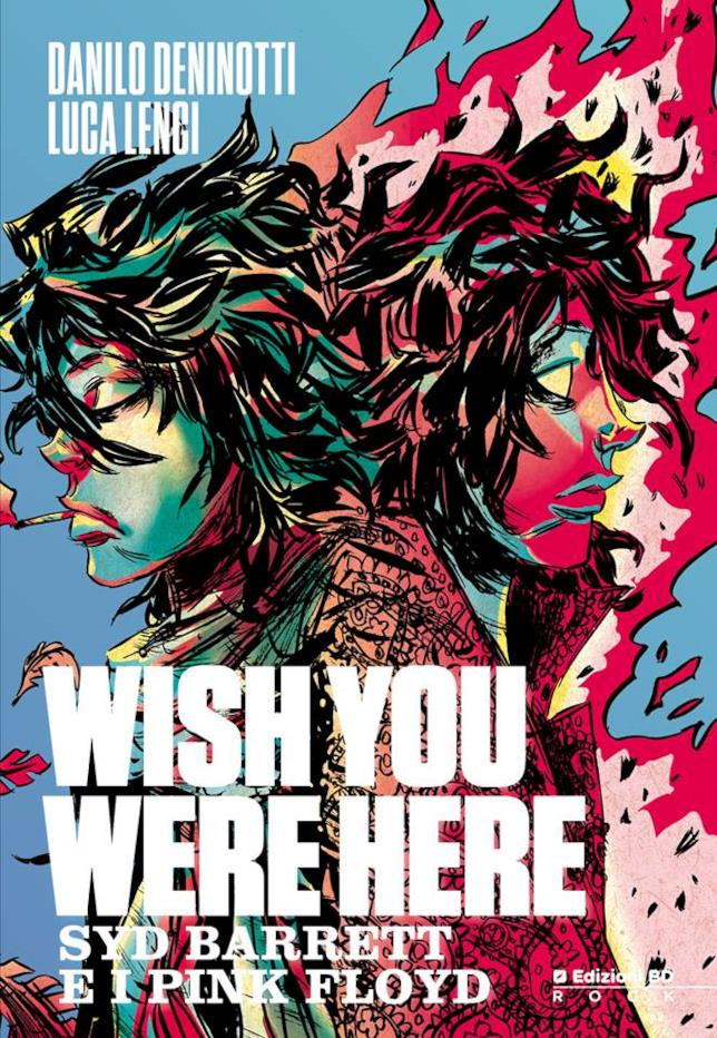 Cover del fumetto Wish You Were Here - Syd Barrett e i Pink Floyd