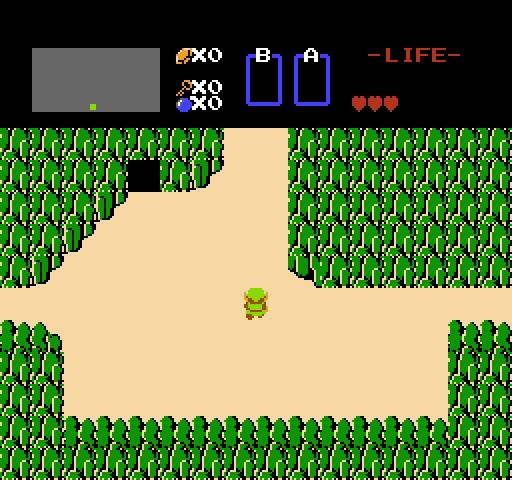 Link in una GIF del primo The Legend of Zelda per NES