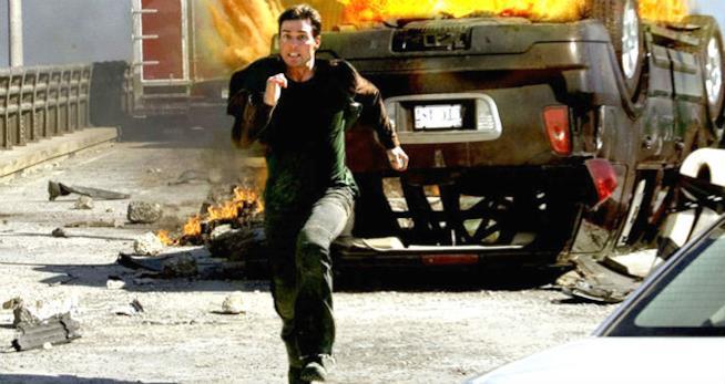 Tom Cruise in corsa