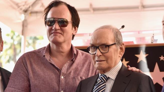 Quentin Tarantino ed Ennio Morricone alla cerimonia per la Walk of Fame