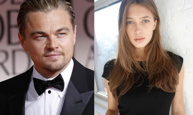 Primo piano di Leonardo DiCaprio e Chelsey Weimar