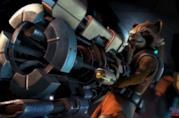Rocket Raccoon in azione in Guardians of the Galaxy di Telltale Games