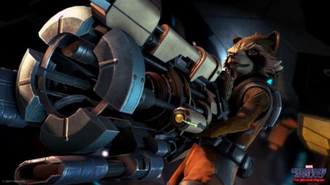 Rocket Raccoon in azione in Guardians of the Galaxy di Telltale Games