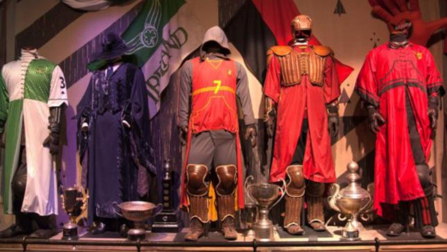 Sala Quidditch all'interno della mostra The Harry Potter: The Exhibition