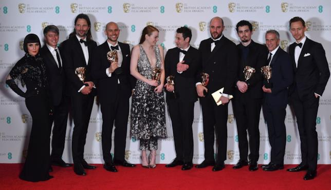Emma Stone e La La Land ai BAFTA Awards 2017