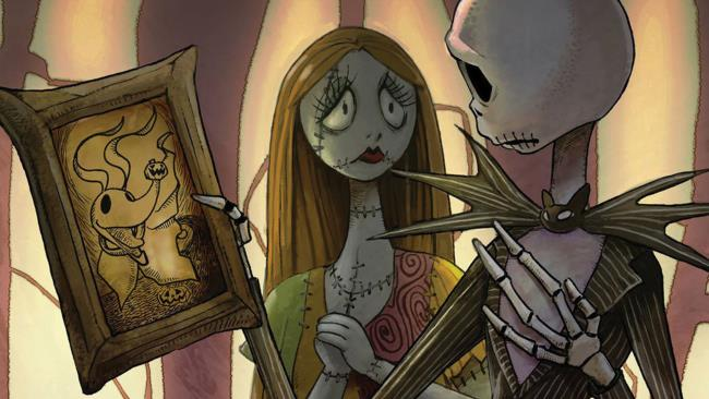 I protagonisti del sequel a fumetti di Nightmare Before Christmas