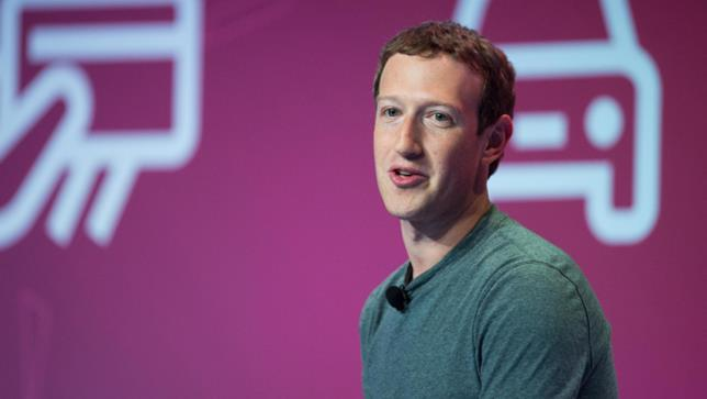 Primo piano di Mark Zuckrberg, CEO di Facebook