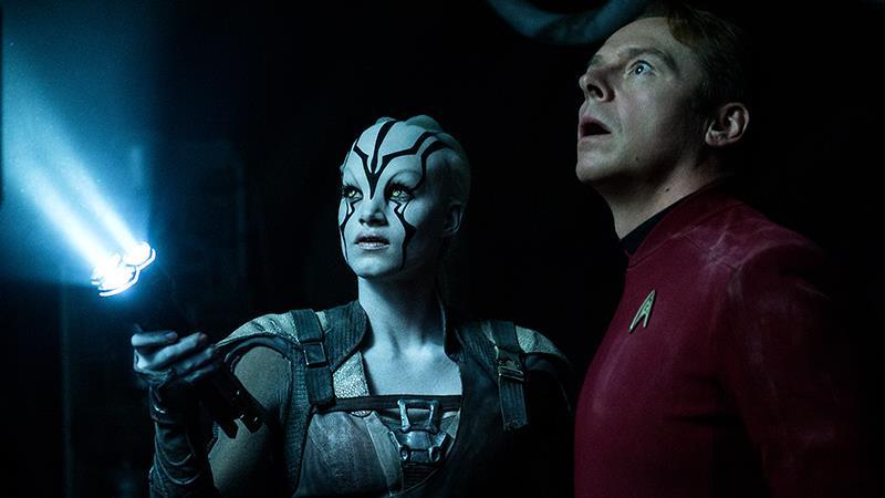 Jaylah e Scotty in Star Trek Beyond