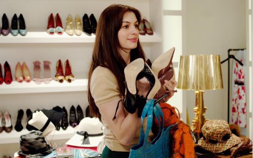 Anne Hathaway in Il Diavolo Veste Prada