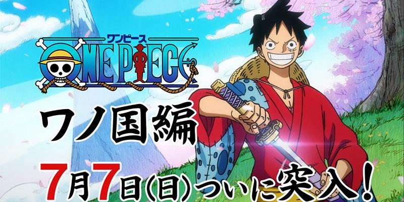 One Piece saga di Wano dal 7 lugli
