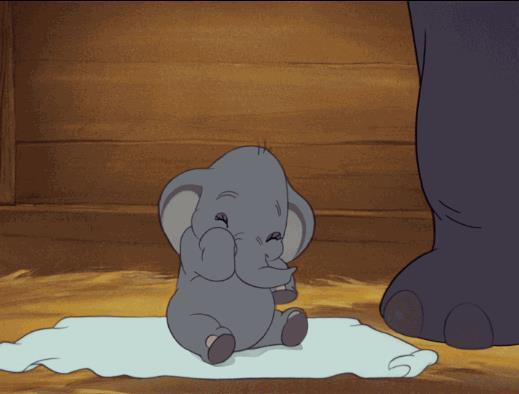 Una scena del Classico Disney Dumbo