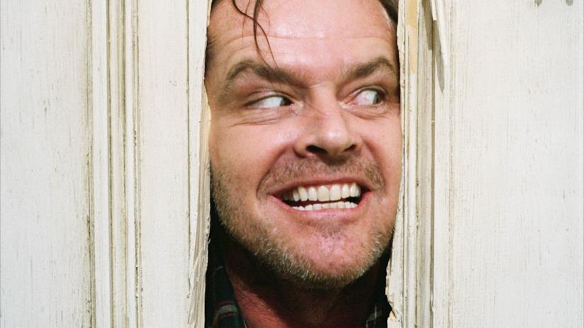 Jack Nicholson è il pazzo Jack Torrance in Shining