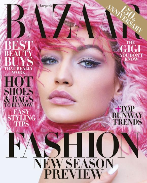 Gigi Hadid volto copertina di Harper's Bazaar