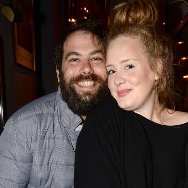 Primo piano di Adele e Simon Konecki