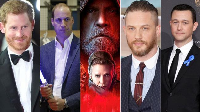 I reali inglesi, Tom Hary e Joseph Gordon-Levitt tra le celebrity apparse ne Gli Ultimi Jedi
