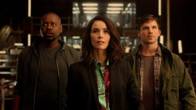 Rufus, Lucy e Wyatt in Timeless