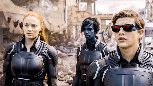 I giovani Jean, Ciclope e Nightcrawler in X-Men: Apocalisse