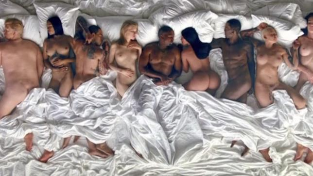 Immagine tratta dal video Famous di Kanye West
