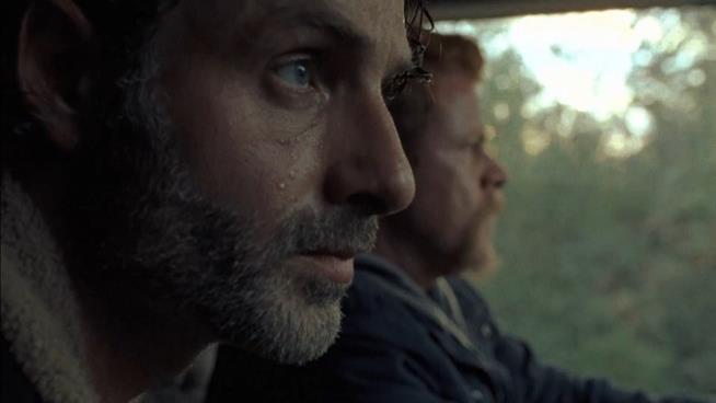 Unos catto dal set di The Walking Dead