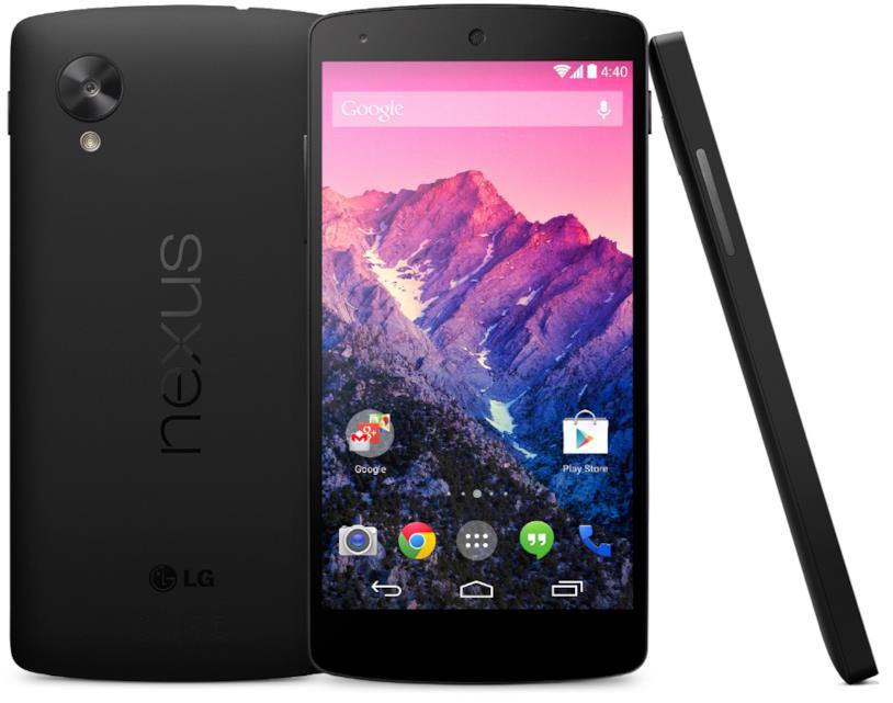 Immagine stampa dello smartphone Nexus 5 di Google