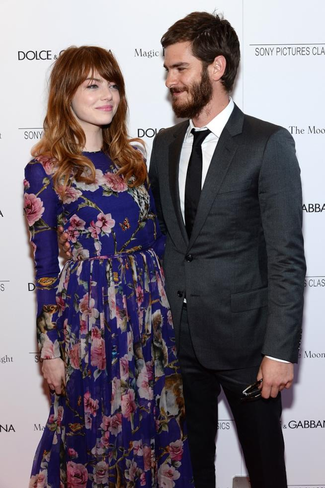 Emma Stone e Andrew Garfield su un red carpet