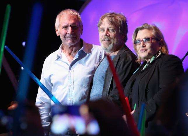 Harrison Ford, Mark Hamill e Carrie Fisher al Comic-Con di San Diego 2015