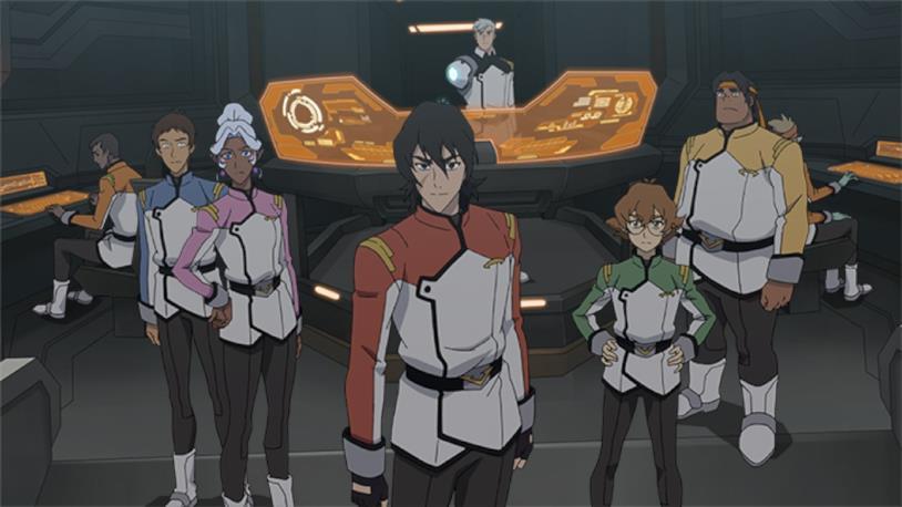 I Paladini con le uniformi della Garrison adattate per i piloti dei Leoni