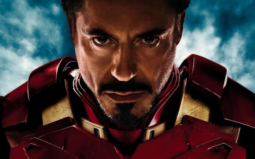 Un primo piano di Iron Man/Tony Stark in un poster promozionale di Civil War
