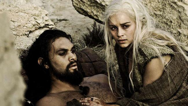 Khal Drogo e Daenerys Targaryen nel finale della stagione 1 di GoT