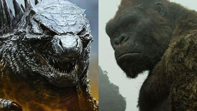 Godzilla disegnato da Yuji Kaida e Kong in Skull Island