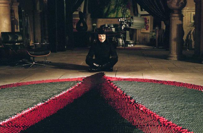 Scena tratta dal film V per Vendetta