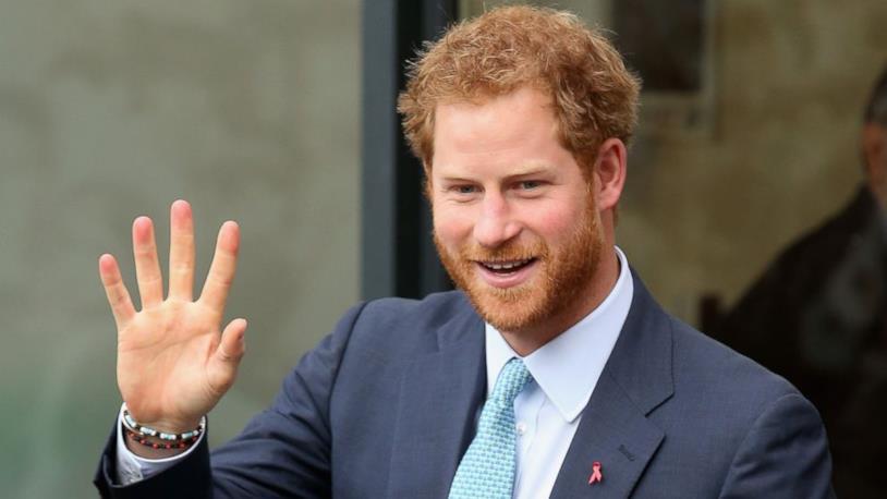 Un primo piano del Principe Harry